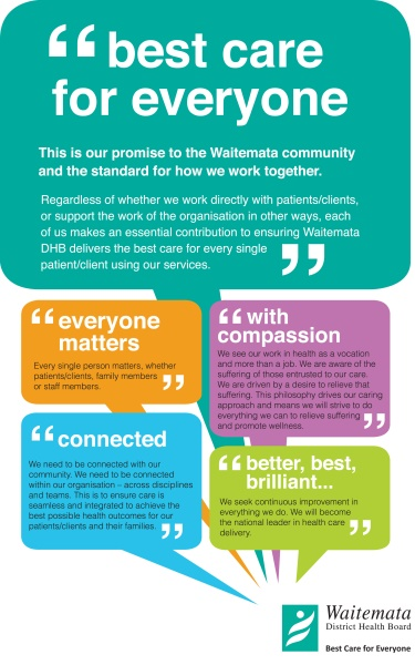 Waitemata DHB values portrait